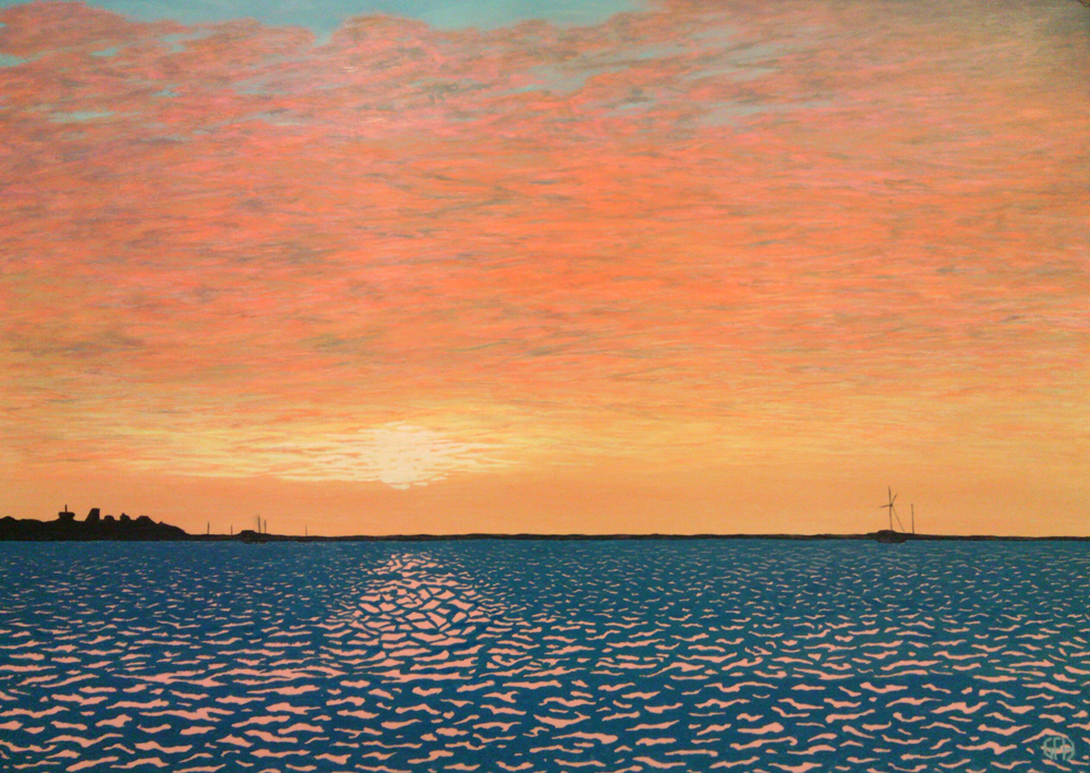 Sunset Over Mornington Painting